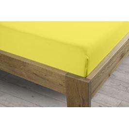 Sintex Prostěradlo Sintex LUX s Lycrou žluté v.30cm - 90x200 cm