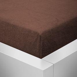 Homeville Homeville froté prostěradlo čokoláda - 90x200 cm