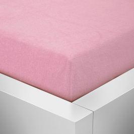 Homeville Homeville froté prostěradlo růžová - 90x200 cm