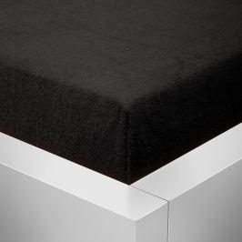 Homeville Homeville froté prostěradlo černá - 90x200 cm Prostěradla