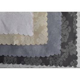 Home collection Ubrus s květinovými vzory - bílý 180x130 cm Bytový textil