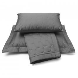 Vandyck Vandyck Luxusní saténový přehoz na postel Anthracite - tm. šedá - 260x260 cm Přehozy