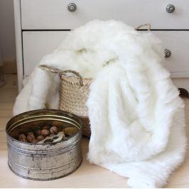 Home collection Pléd imitace kožešiny 130x160 cm - Bílá Deky
