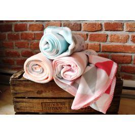 Home collection Fleece deka s barevnými trojúhelníky 130x160 cm - Růžová Deky