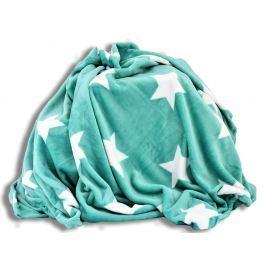 Homeville Homeville deka mikroplyš 150x200 cm hvězdičky mátová