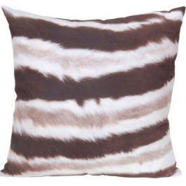 Home collection Dekorační polštářek zvířecí srst 45x45 cm - vzor 1 - pruhy