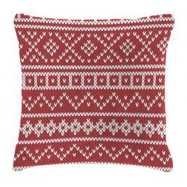 Mistral home Dekorační polštářek Mistral Home beránek Knitting červená 40x40 cm Dekorační polštáře