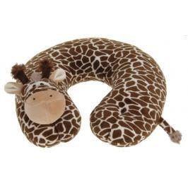 Home collection Plyšový cestovní polštářek žirafa 29x29,5cm Dekorační polštáře