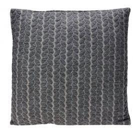 Home collection Dekorační polštářek s copánky 40x40cm tmavě šedá