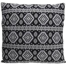 Home collection Tkaný černobílý polštář - 45x45 cm