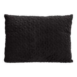 Home collection Prošívaný sametový polštář 60x45 cm černá
