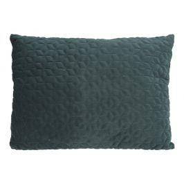 Home collection Prošívaný sametový polštář 60x45 cm tmavě zelená Dekorační polštáře
