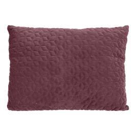 Home collection Prošívaný sametový polštář 60x45 cm mauve Dekorační polštáře