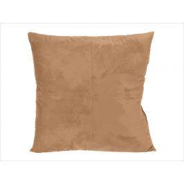 Home collection Semišový polštářek s prošitím 45x45 cm béžová