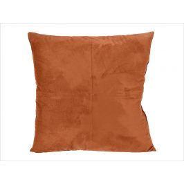 Home collection Semišový polštářek s prošitím 45x45 cm skořicová