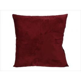 Home collection Semišový polštářek s prošitím 45x45 cm vínová