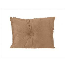 Home collection Semišový polštářek s knoflíkem 60x45 cm béžová