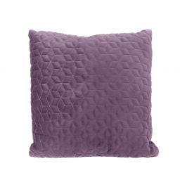 Home collection Prošívaný sametový polštář 45x45 cm fialová Dekorační polštáře