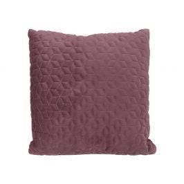 Home collection Prošívaný sametový polštář 45x45 cm mauve Dekorační polštáře
