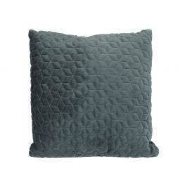Home collection Prošívaný sametový polštář 45x45 cm tmavě zelená Dekorační polštáře