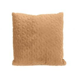 Home collection Prošívaný sametový polštář 45x45 cm okrová