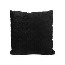 Home collection Prošívaný sametový polštář 45x45 cm černá