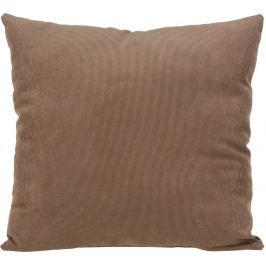 Home collection Dekorační polštářek manšestrový 45x45 cm světle hnědá Dekorační polštáře