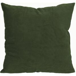 Home collection Dekorační polštářek manšestrový 45x45 cm khaki Dekorační polštáře