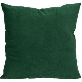 Home collection Dekorační polštářek manšestrový 45x45 cm tmavě zelená Dekorační polštáře