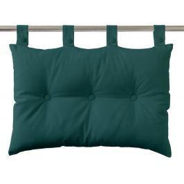 TODAY Závěsný polštář k posteli 70x45 cm Emeraude - barva jehličí Dekorační polštáře