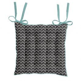 TODAY HIPPIE CHIC podsedák 40x40 cm Zig Zag/Blue Bay