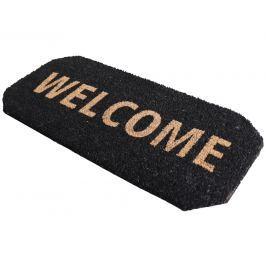 Home collection Kokosová rohožka se zkosenými rohy Welcome 33x70 cm černá