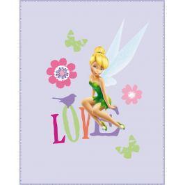 CTI Fleece dečka Fairies (víla Zvonilka) Rossignol 110 x 140 cm