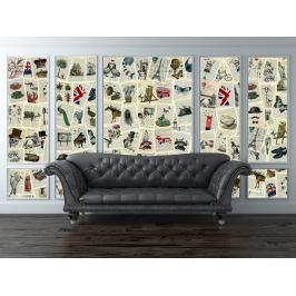 1Wall 1Wall Kreativní koláž 64 dílů 37,5 x 27,5cm Marion McConaghie Tapety