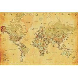1Wall 1Wall fototapeta Retro mapa 158x232 cm Tapety