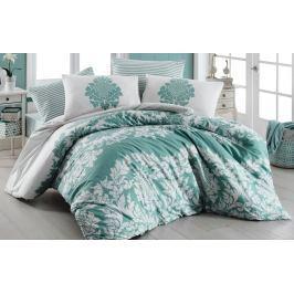 Homeville Povlečení 100% bavlna Purely mint se dvěma povlaky na polštář - 140x200 / 50x70+70x90