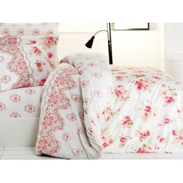 Homeville Povlečení 100% bavlna Rosie se dvěma povlaky na polštář - 140x200 / 50x70+70x90