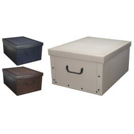 Home collection Úložné krabice klasik 49x39x24cm - Tm. zelená