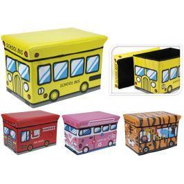 Home collection Skládací box / taburet pro děti 49x31x31 cm - Hasiči