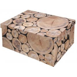Home collection Úložná krabice Wood Mini polínka 37x31x16cm