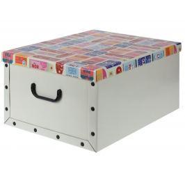 Home collection Úložná krabice hobby cestování 49,5x39x24cm
