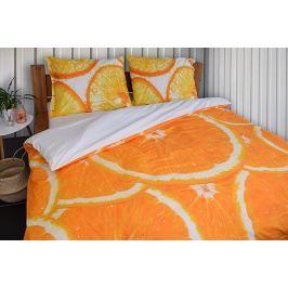 Gipetex Natural Dream 3D italské povlečení 100% bavlna Pomeranč, digitální tisk - 140x200cm / 70x90cm