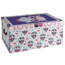 Home collection Úložná krabice sova s brýlemi 49,5x39x24cm