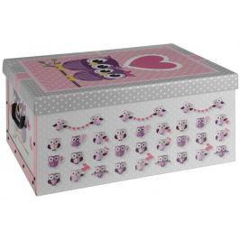 Home collection Úložná krabice dvojice sov se srdíčkem 49,5x39x24cm
