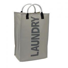 Home collection Prádelní koš s nápisem Laundry sv. šedý 32x24x54cm