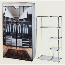 Home collection Textilní skládací skříň DELUXE s kovovou konstrukcí 88x45x160cm