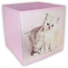 Home collection Organizér se zvířátky 26x26x26 cm růžový
