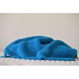 Vandyck Vandyck Koupelnová předložka SCALA Chenille ocean blue modrá - 60x60 cm