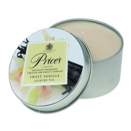 Price´s FRAGRANCE vonné svíčky v plechu Sladká vanilka 123g 3ks