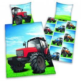 Herding Herding povlečení Traktor 140x200/70x90cm Ložní povlečení